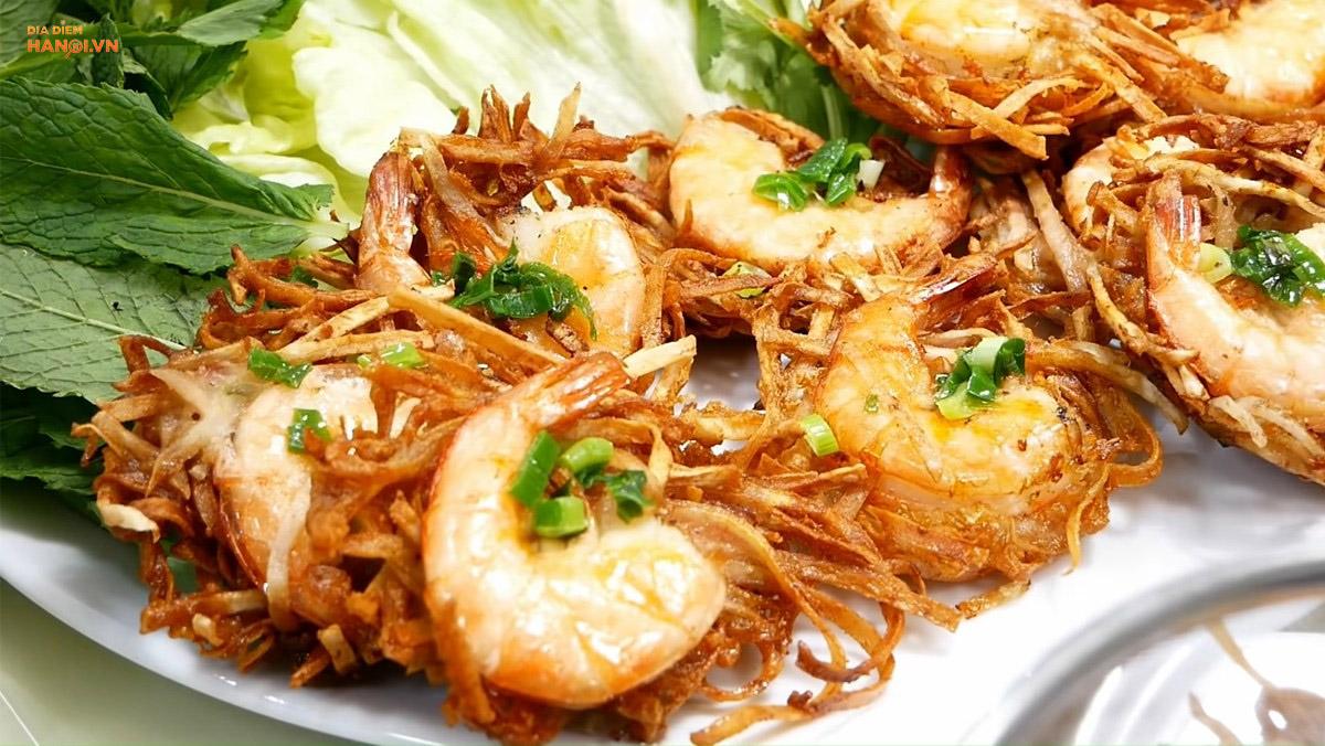 Đặc sản bánh tôm Hà Nội