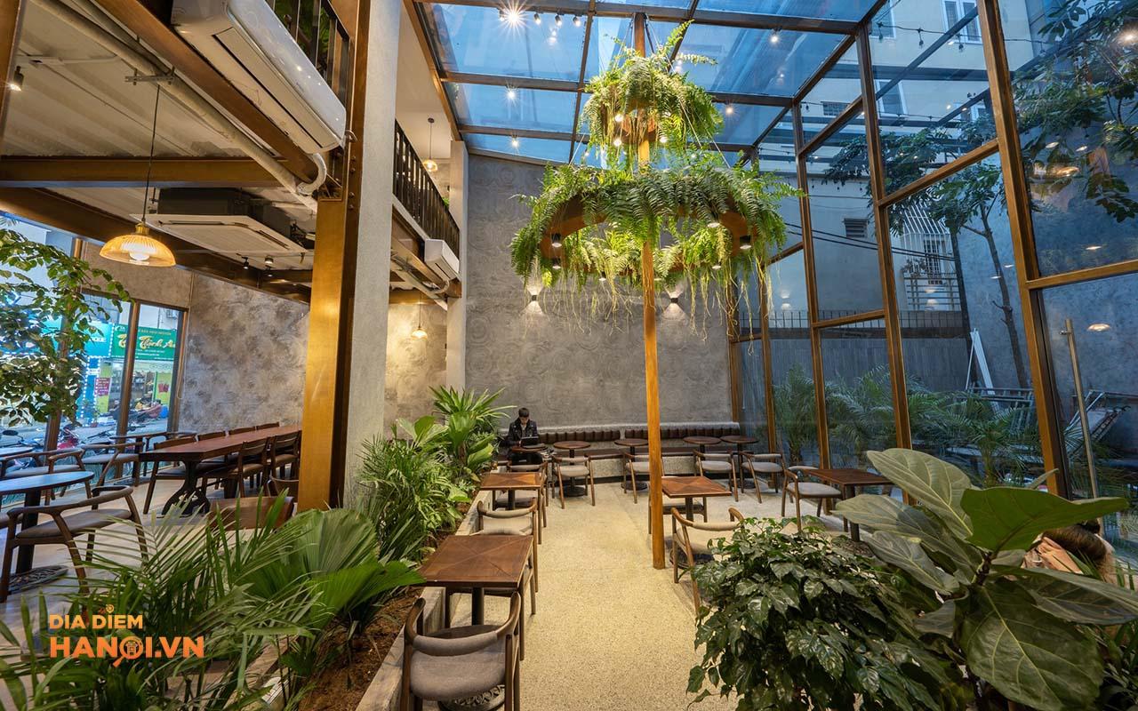 Không gian xanh của quán Foglian coffee